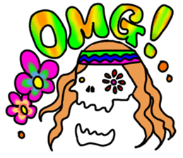 Hippie Skull sticker #6718616