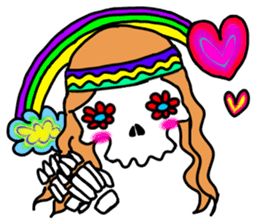 Hippie Skull sticker #6718618