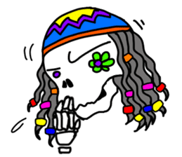 Hippie Skull sticker #6718619