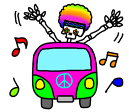 Hippie Skull sticker #6718624
