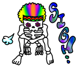 Hippie Skull sticker #6718628