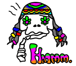 Hippie Skull sticker #6718637