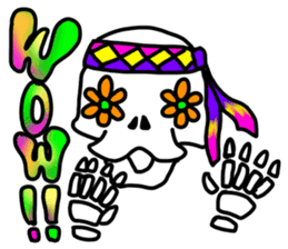 Hippie Skull sticker #6718639