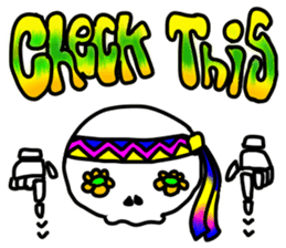 Hippie Skull sticker #6718642