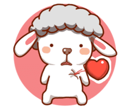 Yandee cute sheep sticker #6719616