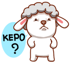 Yandee cute sheep sticker #6719617