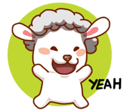 Yandee cute sheep sticker #6719620