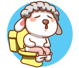 Yandee cute sheep sticker #6719624