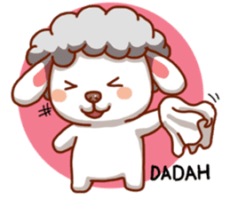 Yandee cute sheep sticker #6719626