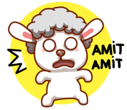 Yandee cute sheep sticker #6719631
