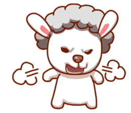 Yandee cute sheep sticker #6719633