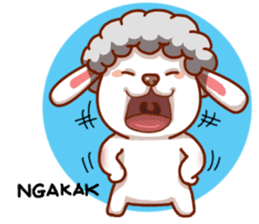 Yandee cute sheep sticker #6719635