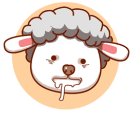 Yandee cute sheep sticker #6719637
