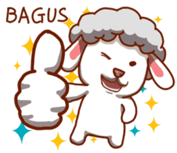 Yandee cute sheep sticker #6719641