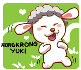Yandee cute sheep sticker #6719646