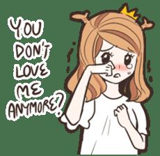 My Deer Princess (Eng) sticker #6724746