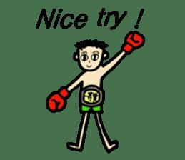 fighter-kickboxing-muaythai-boxing sticker #6729928