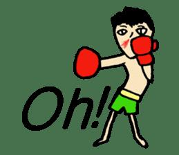 fighter-kickboxing-muaythai-boxing sticker #6729929