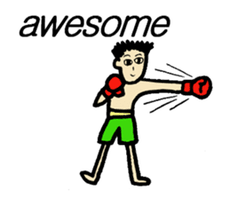 fighter-kickboxing-muaythai-boxing sticker #6729932