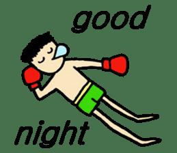 fighter-kickboxing-muaythai-boxing sticker #6729934