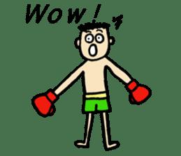 fighter-kickboxing-muaythai-boxing sticker #6729936