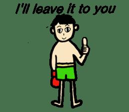 fighter-kickboxing-muaythai-boxing sticker #6729937