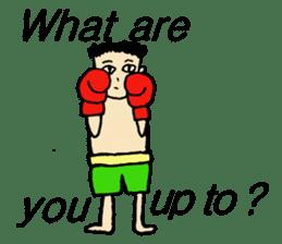 fighter-kickboxing-muaythai-boxing sticker #6729940