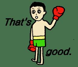 fighter-kickboxing-muaythai-boxing sticker #6729942
