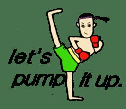fighter-kickboxing-muaythai-boxing sticker #6729945