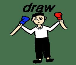 fighter-kickboxing-muaythai-boxing sticker #6729946