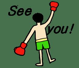 fighter-kickboxing-muaythai-boxing sticker #6729948