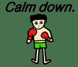 fighter-kickboxing-muaythai-boxing sticker #6729950