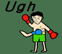fighter-kickboxing-muaythai-boxing sticker #6729951