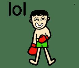 fighter-kickboxing-muaythai-boxing sticker #6729955