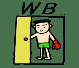 fighter-kickboxing-muaythai-boxing sticker #6729957