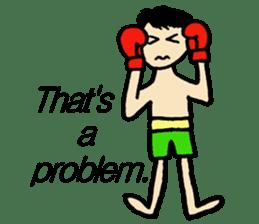 fighter-kickboxing-muaythai-boxing sticker #6729958