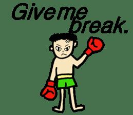 fighter-kickboxing-muaythai-boxing sticker #6729959