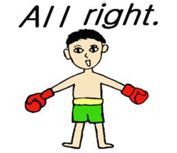 fighter-kickboxing-muaythai-boxing sticker #6729961