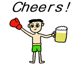fighter-kickboxing-muaythai-boxing sticker #6729962