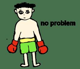 fighter-kickboxing-muaythai-boxing sticker #6729964