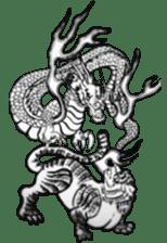 Japanese Dragon sticker #6734496