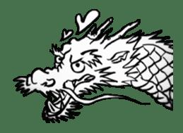 Japanese Dragon sticker #6734521