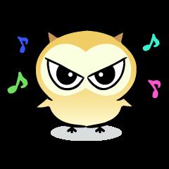 The baby of Eurasian Scops-owl. Eng.ver.