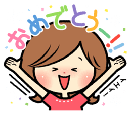 Sociable and friendly woman's stickers sticker #6742295