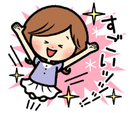 Sociable and friendly woman's stickers sticker #6742301