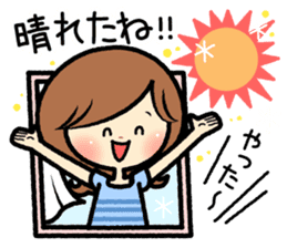 Sociable and friendly woman's stickers sticker #6742304