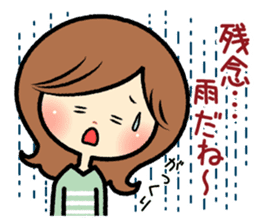 Sociable and friendly woman's stickers sticker #6742305