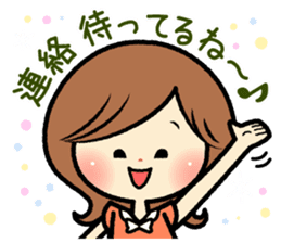 Sociable and friendly woman's stickers sticker #6742311