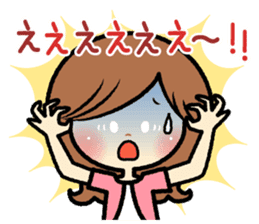 Sociable and friendly woman's stickers sticker #6742313
