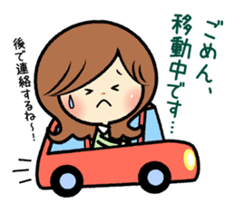 Sociable and friendly woman's stickers sticker #6742315